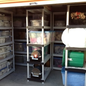 Storage done by organizers in Spring, Texas