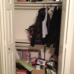 Office closet before in W. University Place
