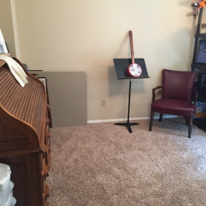 Music room by organizers in Memorial