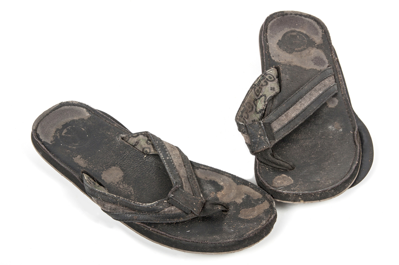 worn out sandals