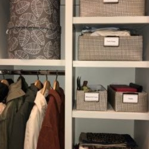 Winter Accessory Closet