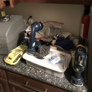 Laundry before organizers in Seabrook