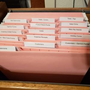 Organized files in Austin, TX