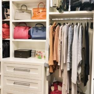 Closet organizing made pretty