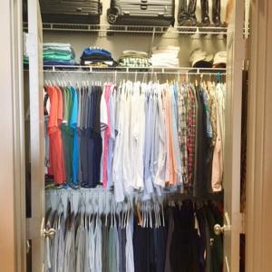 Reach in closet home organization