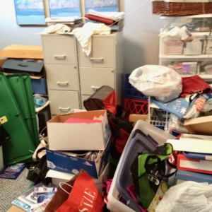 Before home office organizing