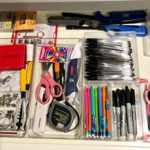 Desk drawer organized