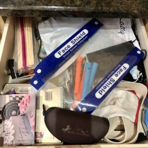 Before organizing junk drawer
