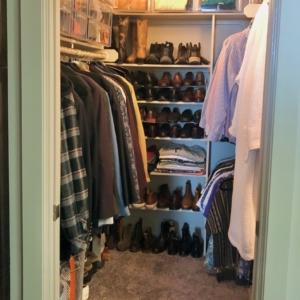 After mens closet organization