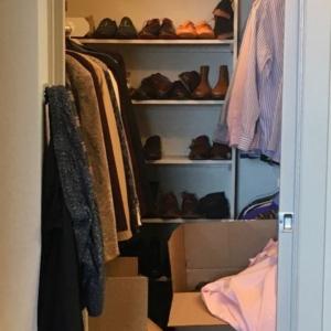Before mens closet organization in Montrose