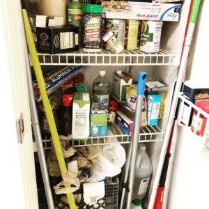 Small pantry before organizing