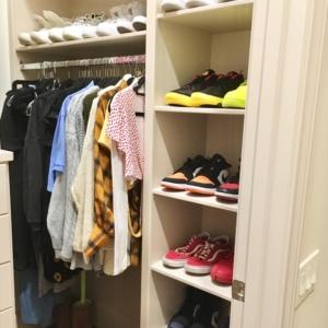 Tennis shoe closet