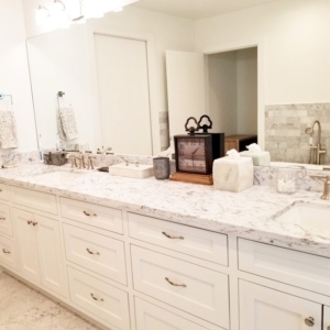Our Houston home organizers set up this bathroom
