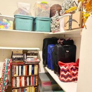Extra closet after organizing