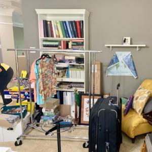 Before living room organization