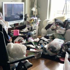 Before home organizing in Houston, Texas