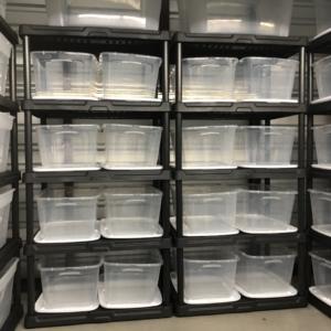5 x 10 storage unit organization
