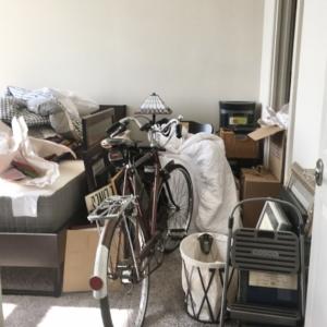 Disorganized bedroom