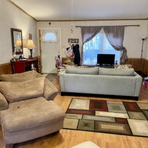 Living room organized by organizers in Houston, Texas