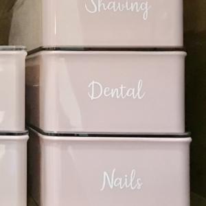 Bathroom organizing is fun