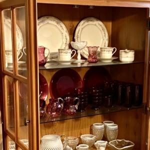 Dining room hutch organized