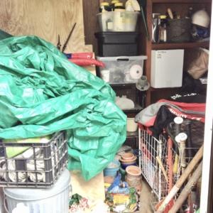 Before shed organizing