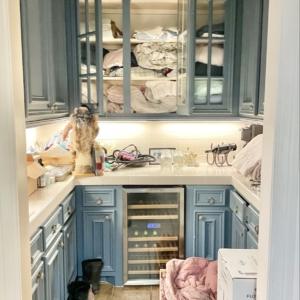 Butler pantry before organizing